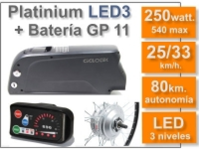 Kit Platinium LED 3 + batería GP 11 Ah 36v